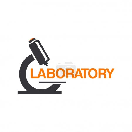 Illustration for Laboratory Logo Template - Royalty Free Image