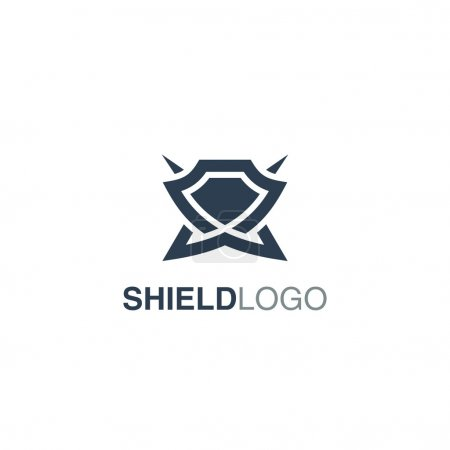 Illustration for Shield Logo Template - Royalty Free Image