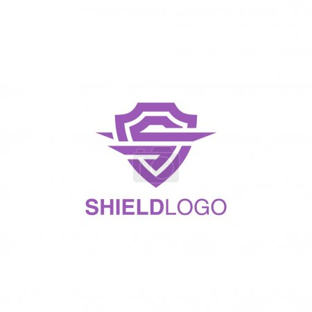 Illustration pour Modèle de logo de bouclier - image libre de droit