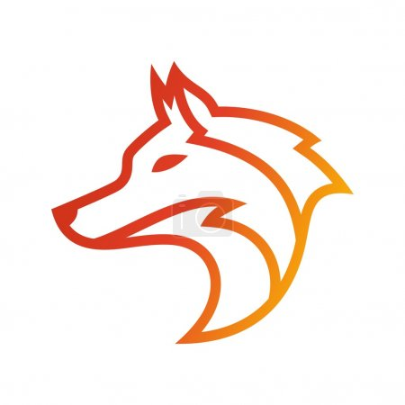 Illustration pour Modèle de logo de loup - image libre de droit