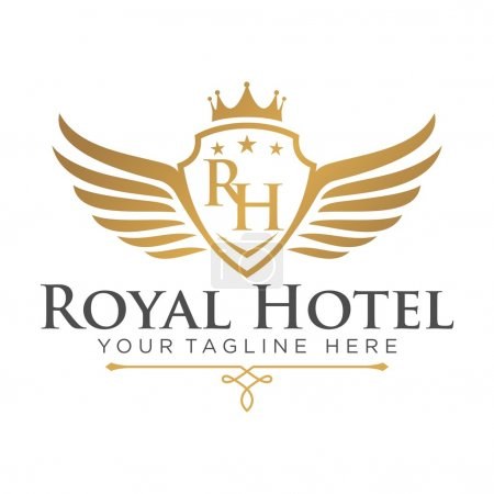 Illustration for Hotel Logo Template - Royalty Free Image