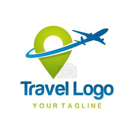 Illustration pour Modèle de logo de voyage - image libre de droit