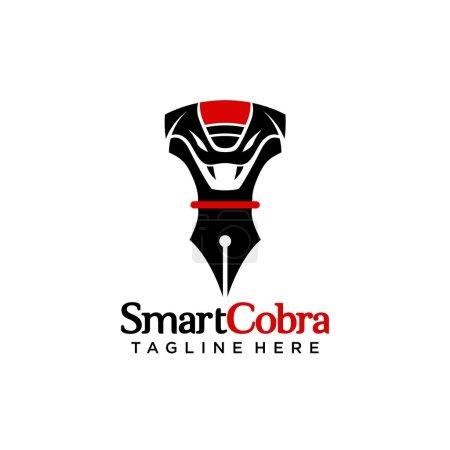 Illustration pour Modèle de logo Cobra - image libre de droit