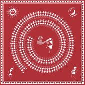 This image shows the famous Tarpa Dance of Warli tribes from Maharashtra India