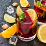 Sangria ingredients - orange, lemon, lime, apple s...