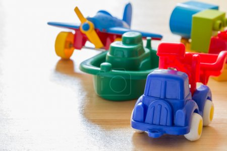 Transport infrastructure concept with toys