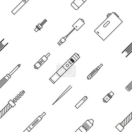 Illustration for Vaping pattern - Royalty Free Image