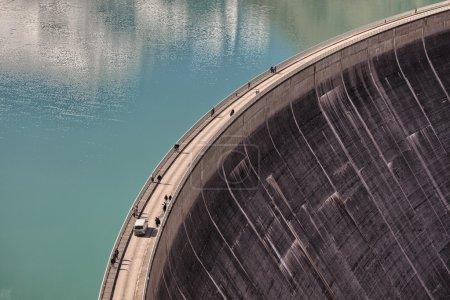 Photo pour Réservoirs d'eau Kaprun Mooserboden - Lac artificiel, barrage, Autriche - image libre de droit