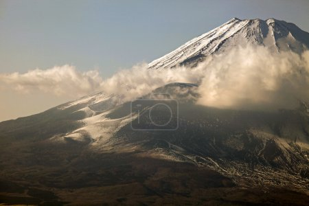 Snowcapped Mount Fuji viewed from Hakone area, Japan