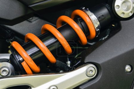 Photo pour Un dispositif permettant d'absorber les chocs et les vibrations, surtout sur un véhicule à moteur. - image libre de droit