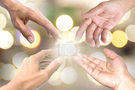 Photo pour Le symbole utilisé pour montrer l'autre un coup de main. - image libre de droit