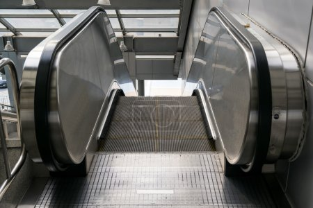 Automatic escalators  in various places and buildings.