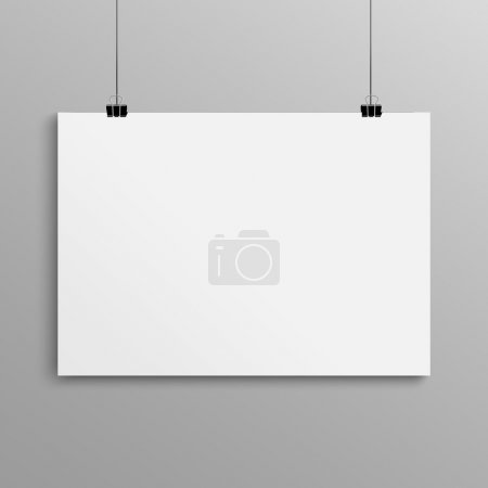Blank poster, mock up