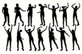 Vector Dancing Girl Silhouettes