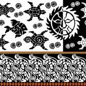 Abstract vector pattern inspired by maori tattoo art