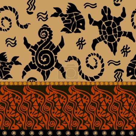 Abstract vector pattern inspired by maori tattoo art.