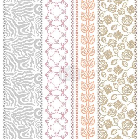 Lace looking vintage silk wallpaper