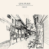 Gokarna Karnataka India postcard