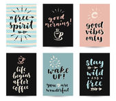 Set of modern calligraphic posters