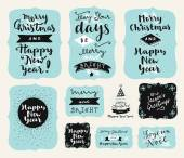 Set of Merry Christmas logos