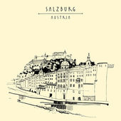 Salzburg skyline Austria Europe