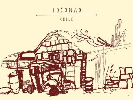Atacama desert. Toconao village