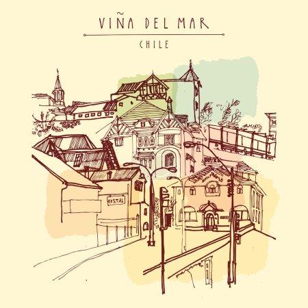 Victorian style architecture in Vina del Mar