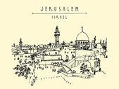 Jerusalem Israel old city skyline