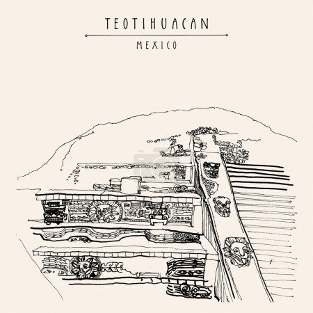 Teotihuacan Mexico postcard