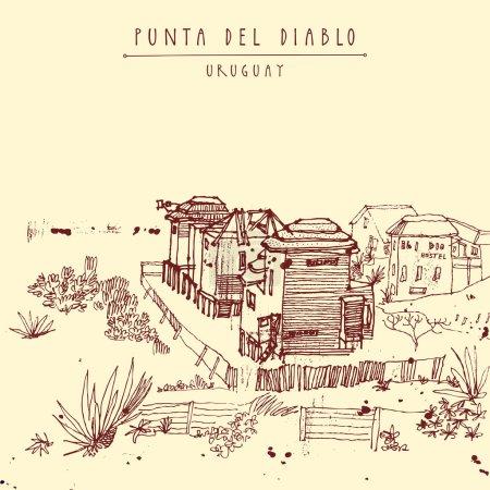 Punta del Diablo Uruguay postcard