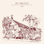 Los Angeles USA postcard