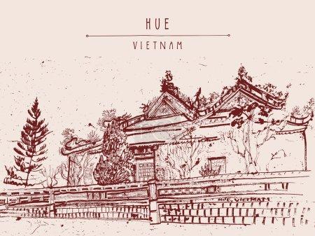 Hue, Vietnam. Citadel postcard