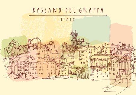 Bassano del Grappa, Italy postcard