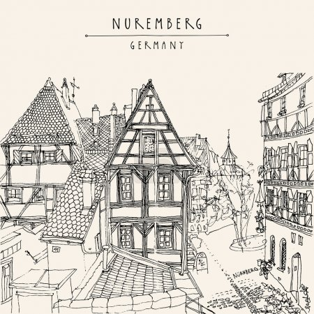 Nuremberg, Germany, Europe postcard