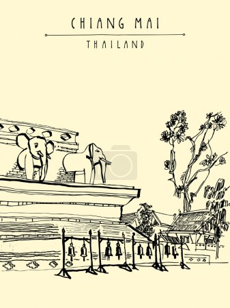 Wat Chedi Luang postcard template