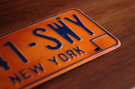 Old New York State licence plate