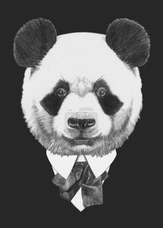 Portrait of Panda in suit.