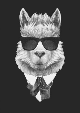 Portrait of Lama in suit.
