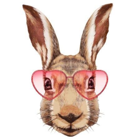 Portrait of Rabbit with sunglasses