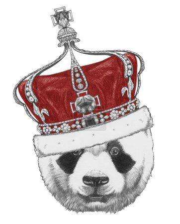Original drawing of Panda with crown