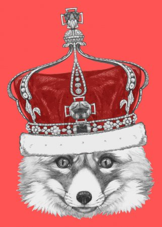 Original Fox with crown