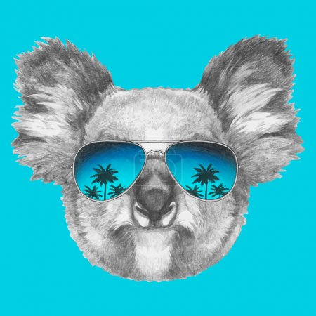 Koala with mirror sunglasses