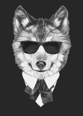 Original Wolf with sunglasses