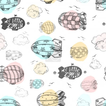 pattern with cute little airchips
