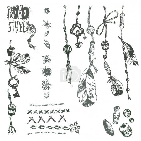 collection of boho elements