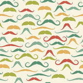 pattern with colorful mustaches