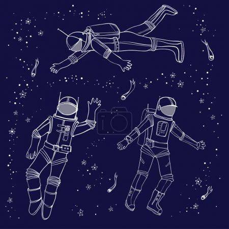 seamless pattern with astronauts