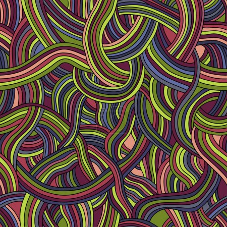 Seamless pattern of colored strips