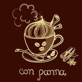 Con panna kávu