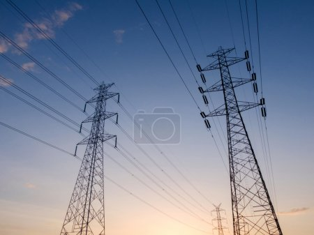 Photo for High voltage electricity tower - Royalty Free Image